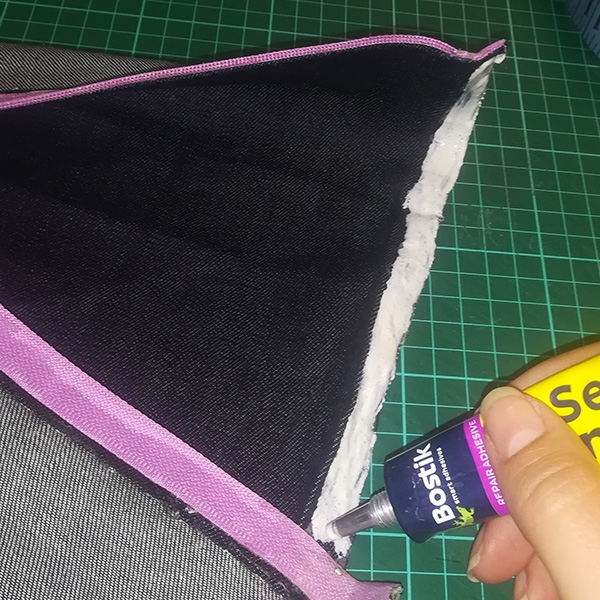 Bostik DIY South Africa Tutorial Sew Simple Pencil Bag step 2.3