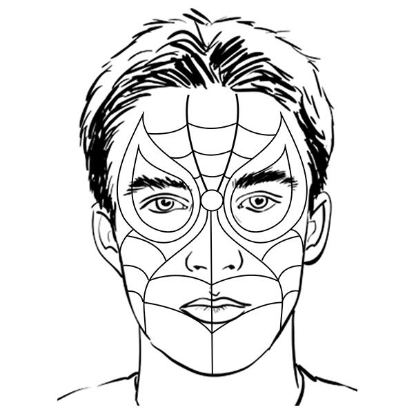 Bostik DIY South Africa Tutorial Superhero Facepaint step 2