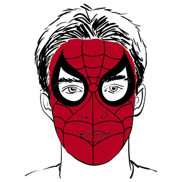 Bostik DIY South Africa Tutorial Superhero Facepaint step 4