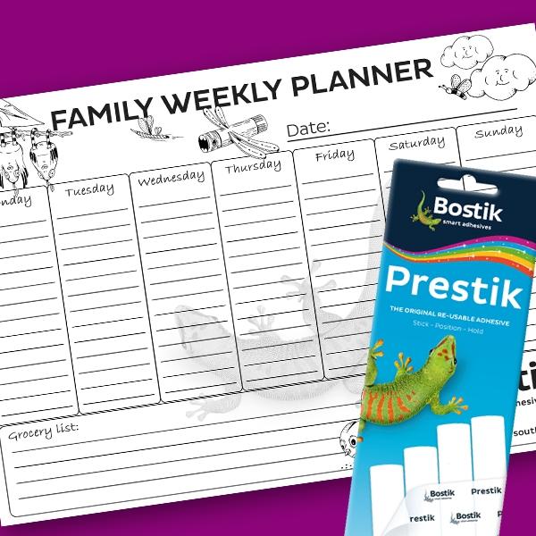 Bostik DIY South Africa Tutorial Weekly Planner step 2