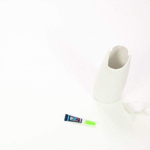 Glue a broken vase back together