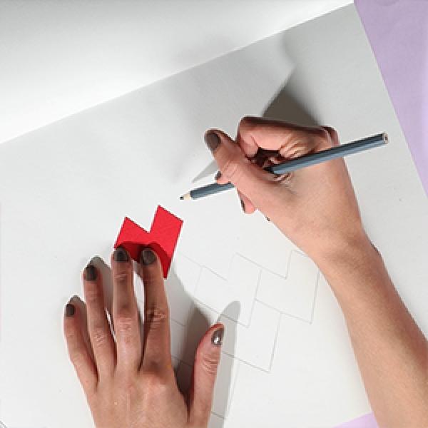 Bostik DIY Singapore Ideas That Stick Heart Tesselation Craft step 3
