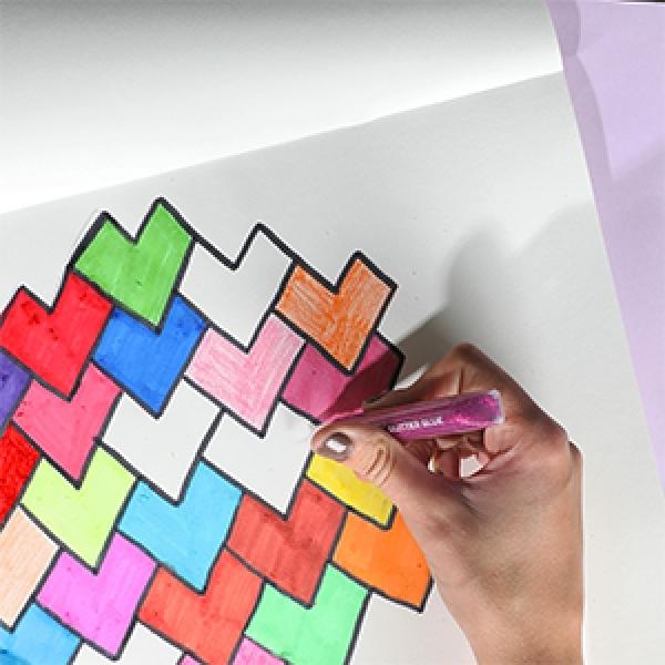 Bostik DIY Singapore Ideas That Stick Heart Tesselation Craft step 4