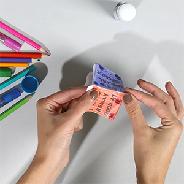 Bostik DIY Singapore Ideas That Stick Self Esteem Dice step 4