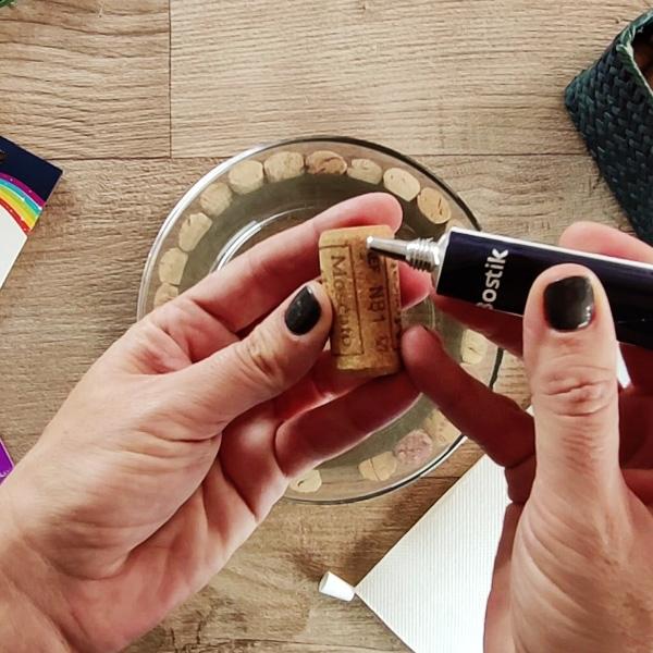 Bostik DIY Greece tutorial centerpiece step 3