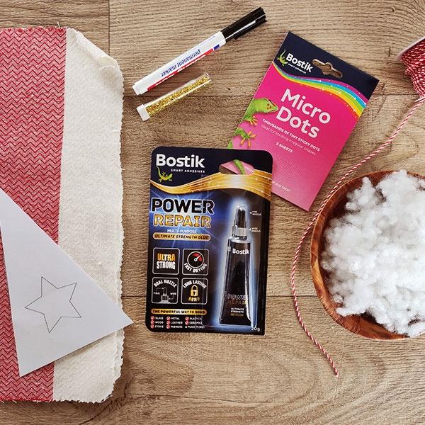 Bostik DIY Greece tutorial gemisto step 1