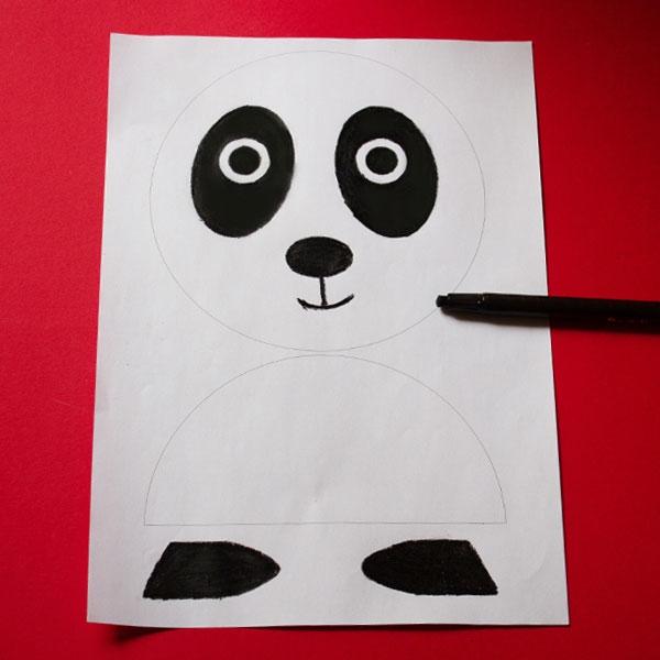Bostik DIY South Africa Tutorial Panda step 1