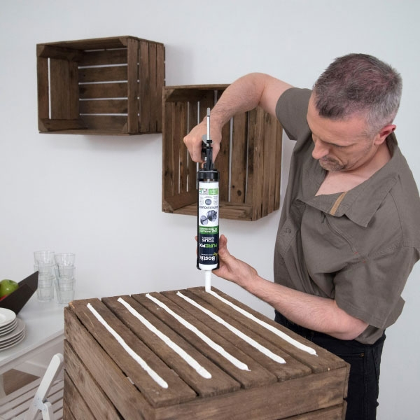 Bostik DIY France Tutorial How to fix wooden boxes step 2