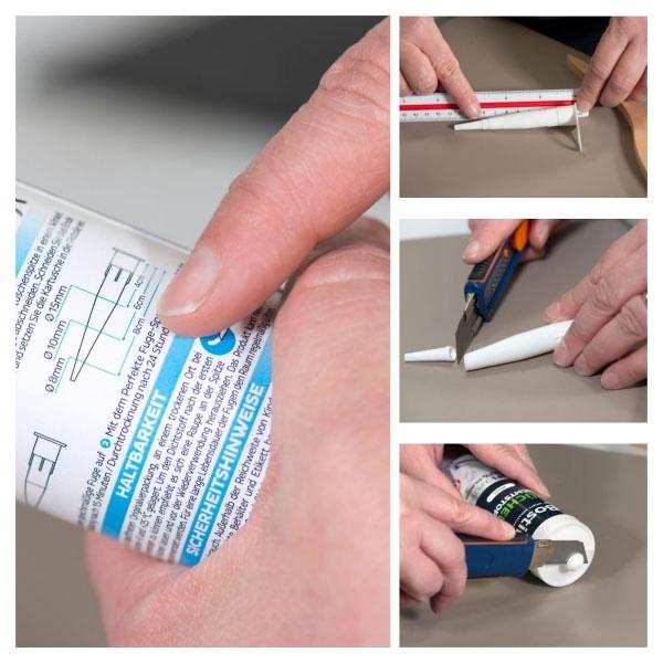 Bostik DIY Germany tutorial How to make kitchen seal step 1