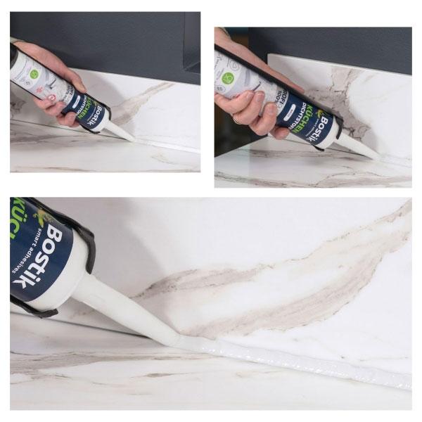 Bostik DIY Germany tutorial How to make kitchen seal step 3