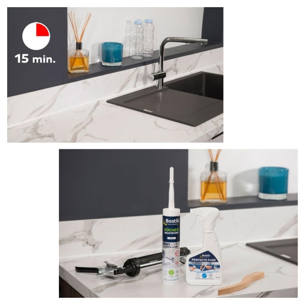 Bostik DIY Germany tutorial How to make kitchen seal step 5