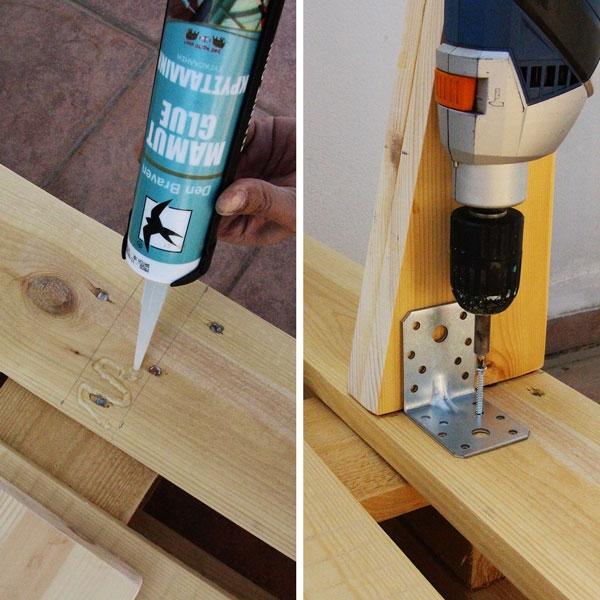 Bostik DIY Greece tutorial palet couch step 10