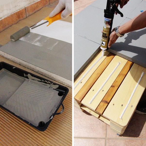 Bostik DIY Greece tutorial palet couch step 14