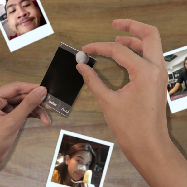 Bostik DIY Philippines Tutorial Easy Way to Display Your Photos Using Blu Tack Step 2