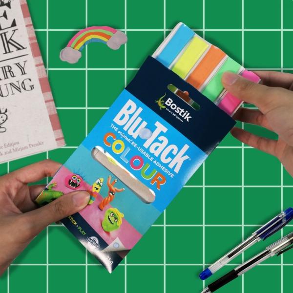 Bostik DIY Philippines tutorial Easy Bookmark Hack with Blu Tack Step 2