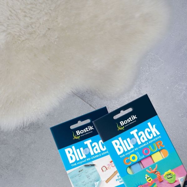 Bostik DIY Philippines tutorial How to Keep Your Floor Rugs in Place Using Blu Tack step 4