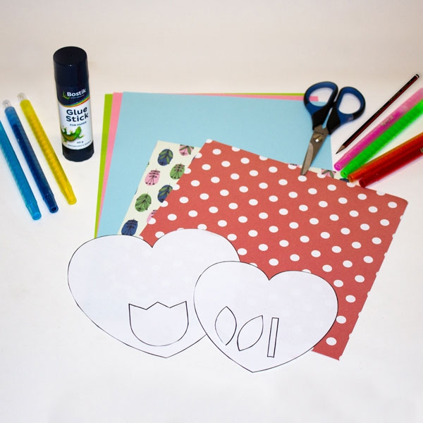 Bostik DIY South Africa Tutorial Mother's Day Card Step 1