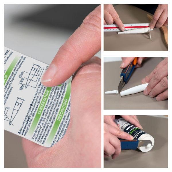 Bostik DIY France tutorial how to make a kitchen seal step 1