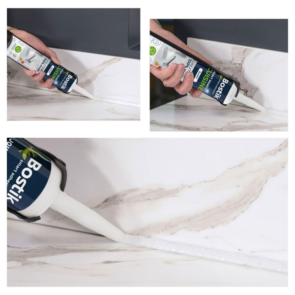 Bostik DIY France tutorial how to make a kitchen seal step 3