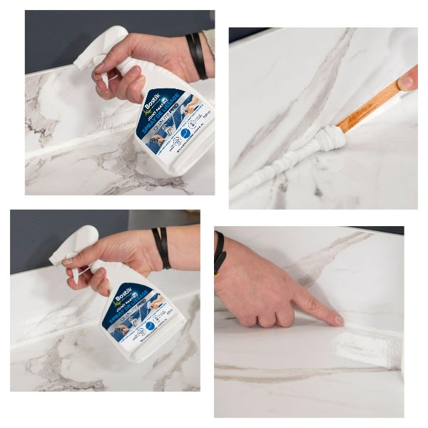 Bostik DIY France tutorial how to make a kitchen seal step 4
