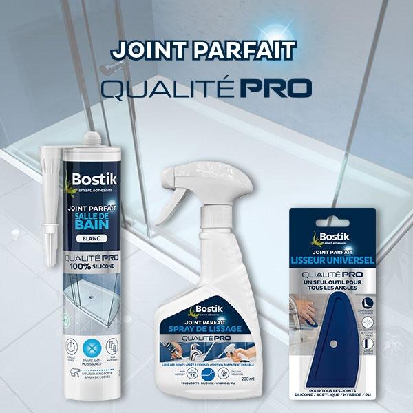 Bostik DIY France tutorial smoothing spray vs dishwashing soap step 7
