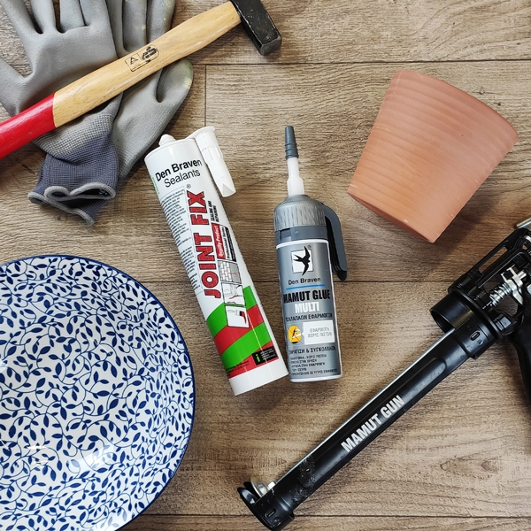 Bostik DIY Greece tutorial Flower Pots step 1