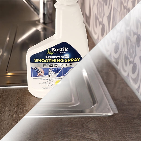 Bostik DIY Lithuania tutorial how to seal a washbasin step 3