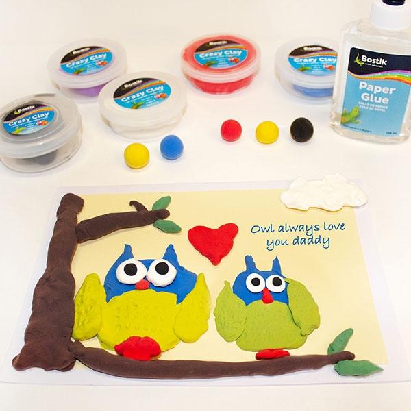 Bostik DIY South Africa Tutorial Fathers Day Owl Card step 5