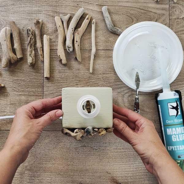 Bostik DIY Greece tutorial how to create a lamp step 5