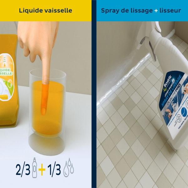 Bostik DIY Poland tutorial smoothing spray vs dishwashing soap step 3